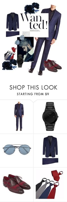 """Dinner party"" by mzill-fashoin29rc ❤ liked on Polyvore featuring Armani Collezioni, Citizen, Topman, Gieves & Hawkes, men's fashion and menswear"