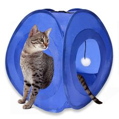 MyDeal Pop Up Instant Kitty Play and Sleep Tent with Portable, Foldable Design and Built in Toy for Cats , Kittens , and other Small Animals! Check out this great product : Cat condo Cat Tree Condo, Cat Condo, Diy Cat Tent, Cat Cages, Cat Carrier, Cat Toys, Kitten Toys, Cool Cats, Pop Up