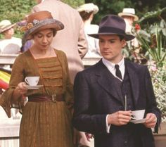 Anne and Gilbert drinking tea -  The Continuing Story. <3