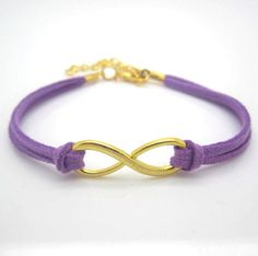Purple Suede Infinity Bracelet would want with silver instead of gold