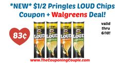 LOVE this new coupon!! Hurry to grab yours and score this quick deal, or use at your favorite store! *NEW* $1/2 Pringles LOUD Chips Coupon + Walgreens Deal!  Click the link below to get all of the details ► http://www.thecouponingcouple.com/new-12-pringles-loud-chips-coupon-walgreens-deal/ #Coupons #Couponing #CouponCommunity  Visit us at http://www.thecouponingcouple.com for more great posts!