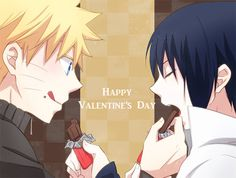 Happy late Valentines day. Naruto x Sasuke style