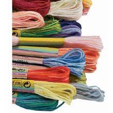DMC Color Variations Floss | 4025 Carribbean Bay, 4045 Evergreen Forest, 4077 Morning Sunshine, 4124 Bonfire, 4128 Gold Coast
