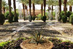 Dancing fountain courtyard at Hyatt Regency Indian Wells Resort & Spa