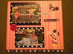 Disney World Scrapbook Page