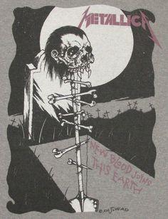 Metallica Albums, Metallica Art, Metallica Shirts, Rock Bands, Metal Bands, Hard Rock, Woodstock, Iron Maiden Shirt, Heavy Metal Art