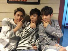 Jun, Jisoo, and Hoshi