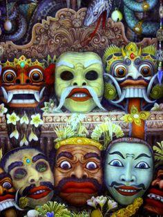 Traditional Painting at Museum Puri Lukisan, Bali, Indonesia
