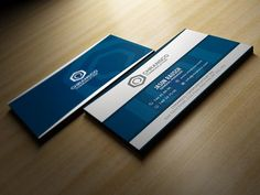 White And Blue Business Card by Marvel on @creativemarket