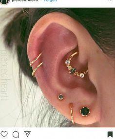 Gold Ear Jackets + Sparkly Spikes- gold ear jacket / ear jacket spike / ear jacket gold / ear jacket earring / gold ear cuff / gifts for her - Fine Jewelry Ideas - Accessoires - Ear Piercings Innenohr Piercing, Smiley Piercing, Body Jewelry Piercing, Tattoo Und Piercing, Ear Jewelry, Fine Jewelry, Piercing Aftercare, Body Jewellery, Triple Helix Piercing