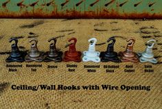 Ceiling or Wall Swag Hook for Hanging Light Fixture Wire, Clothes, Jewelery, Etc.