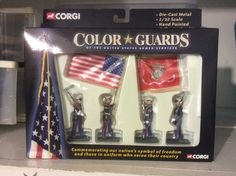Corgi - U. Marine Corps Color Guard Hand Painted Diecast Metal Figures 1 32 for sale online Ebay Web, Color Guard Flags, Marine Colors, Metal Casting, Diecast, Corgi, Sunshine, Scale, Hand Painted