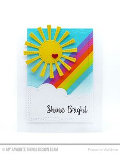 Bling It On, Sunny Skies Die-namics, Wonky Stitched Rectangle STAX Die-namics - Francine Vuillème  #mftstamps