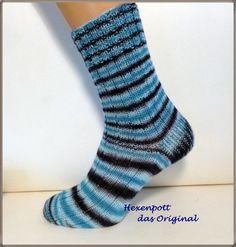 Socken handgestrickt Küstennebel Gr. 42 von Hexenpott auf DaWanda.com