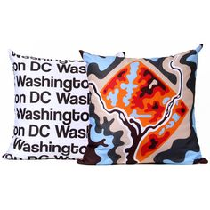 Washington DC Pillow - Orange