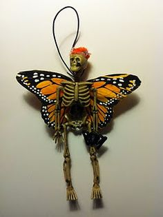 "A skeleton fairy.  I've seen these also called ""Dead Fairies"".  I think I need to make one, maybe a fairy in a jar?"