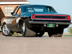 1969 Plymouth Barracuda with the Pro-Street treatment.