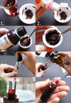 DIY Lip & Cheek Stain    distilled water  rosewater (optional)  glycerin  food dye  tube / rollerball / jar
