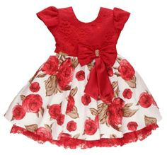 Vestido Infantil Estampado - Tam 1 / 3 | Isabelle Vestidos | Elo7