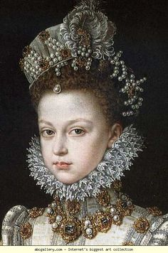 Sofonisba Anguissola. Portrait of the Infanta Isabella Clara Eugenia. Detail. Olga's Gallery.