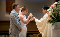 Our Lady Queen of Angels Wedding Photographer Katelyn Sean | Christopher Todd Studios