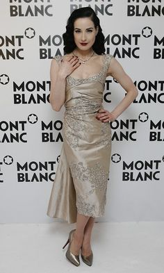Dita Von Tesse in vintage gown