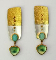 Beautiful earrings by Sydney Lynch.  Love the prehnite and peruvian opal colors.