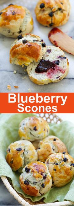 Blueberry Scones – soft, crumbly and sweet homemade scones loaded with fresh blueberries. Perfect as afternoon tea with a cup of tea or coffee | rasamalaysia.com