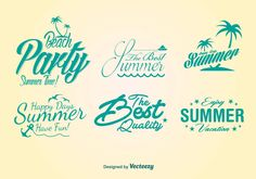 Party Beach Lettering