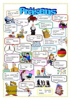 Deutsch Language, German Grammar, German Language Learning, Learn German, Worksheets, Helpful Hints, Classroom, Teaching, Education