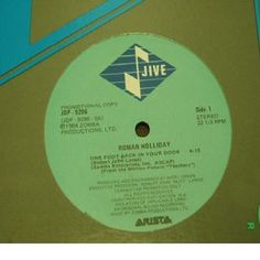 """Roman Holliday - One Foot Back In Your Door: buy 12"""", Promo, Single at Discogs #RomanHolliday #NewWaveVinyl"""