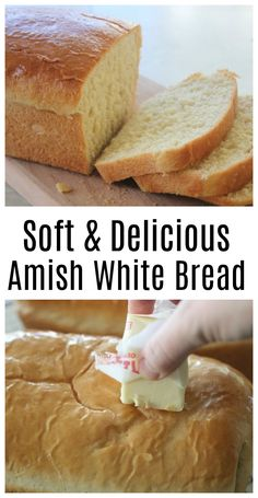 This recipe for homemade Amish white bread yields 2 loaves of perfectly soft white bread. Perfect for sandwiches, toast, or eating fresh from the oven with butter. It has been a family favorite for years! # Food and Drink homemade Amish White Bread Recipe Easy White Bread Recipe, Homemade White Bread, Easy Bread, Homemade Breads, Soft White Bread Machine Recipe, Fresh Yeast Bread Recipe, Soft Sandwich Bread Recipe, Butter Bread Recipe, Best Homemade Bread Recipe
