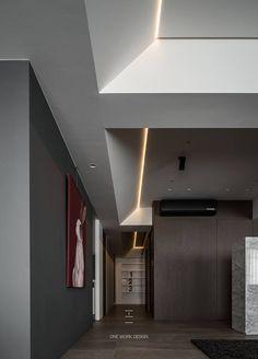 ceiling Interior Ceiling Design, False Ceiling Design, Ceiling Decor, Modern Interior Design, Interior Design Inspiration, Interior Design Living Room, Ceiling Beams, Ceilings, Cove Lighting