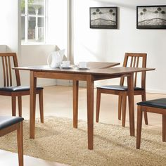 Walsh Butterfly Leaf Dining Table In Walnut   Condo Dining Tables