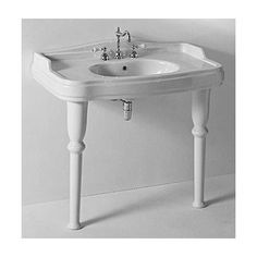 Console Sink Southern Belle Wall Mount Bathroom Spindle Leg Splashguard  Self Draining Soap Dish     Amazon.com | For The Work Place | Pinterest |  Soap ...