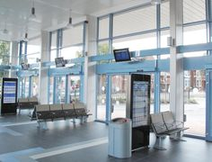 'Circa' and 'Quadra' pre-formed decorative column casings from Encasement are helping provide a practical, aesthetic and comfortable environment for passengers and staff using Worksop's £3.2 million bus station