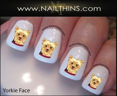 YORKSHIRE TERRIER Nail Decal Dog 1 Yorkshire by NAILTHINS on Etsy