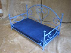 dog bed cat bed wrought iron handmade with cushion hand forged Plastic Canvas, Dog Bed, Wrought Iron, Animals And Pets, Metal Working, Craft Supplies, Cushions, Hand Painted, Tiny House Plans