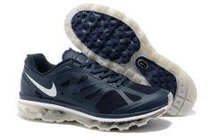 Nike Air Max 2012 Men's Running Shoes 487982 401 Black/Dark Blue/Silve