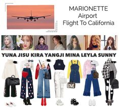 A Look For The Airport From July 2019 by Marionette-Official. Discover outfit ideas for made with the shoplook outfit maker. Korean Girl Fashion, Hip Hop Fashion, Kpop Fashion, Airport Fashion, Fashion Outfits, Stage Outfits, Kpop Outfits, Korea Dress, Shopping