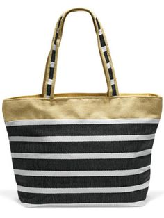 BEACH BAG FUN  From your sunscreen to magazines, there's a lot you need to bring on the beach. Be sure to take along a tote bag that you can chock full with all your essentials. Bonus: use it as a carry-on to clear extra room in your main suitcase. <3