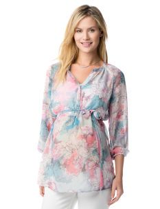 Motherhood Maternity Jessica Simpson 3/4 Sleeve Button Detail Maternity Blouse