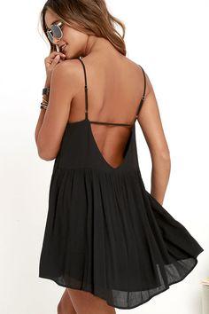 Dream State Black Babydoll Dress at Lulus.com!