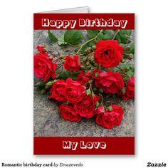 Romantic birthday card