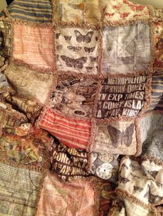 Rag quilt made from @timholtz Eclectic Elements. My first quilt ever!