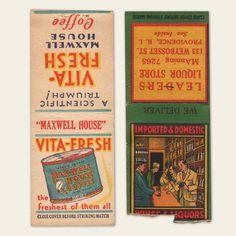 (8) 1930s / 1940s Matchbook Covers (B)   OldBrochures.com