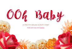 OOH Baby - Typeface Font +BONUS. Script Fonts. $11.00
