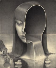 """"""" Artist: Miles Johnston """"""""My contribution to the annual at Spoke Art. Miles Johnston, Graphite Art, Spoke Art, Surreal Artwork, Tim Beta, Surrealism Painting, Portraits, Art Images, Light In The Dark"""