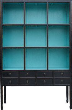 Zoe Cabinet in Aquamarine - eclectic - bookcases cabinets and computer armoires - Urban Home