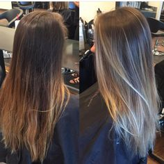 Before and after. Ombré/bayalage refresh - Blondes - Before and After Best Ombre Hair, Blond Ombre, Ombre Hair Color, Natural Ombre Hair, Ombre Bayalage, Brown Blonde Hair, Growing Out Short Hair Styles, Long Hair Styles, Pretty Hairstyles
